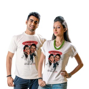 Personalised couple tshrt