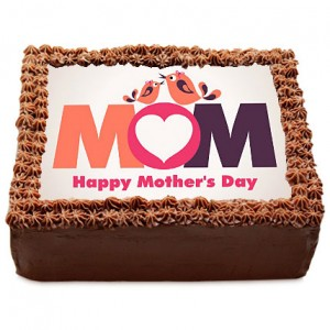 Chocolate Photo Cake for Mom