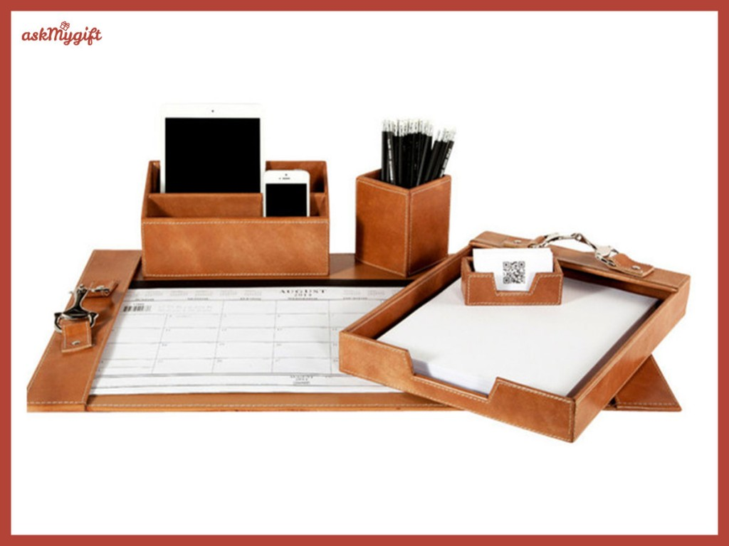 Leather desk accessories - corporate gift