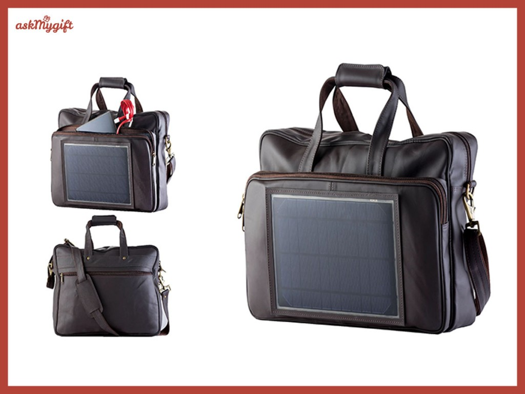 Leather solar bags - corporate gift